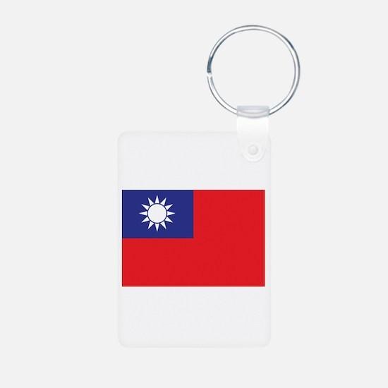 Taiwan1 Aluminum Photo Keychain