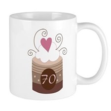 70th Birthday Cupcake Mug