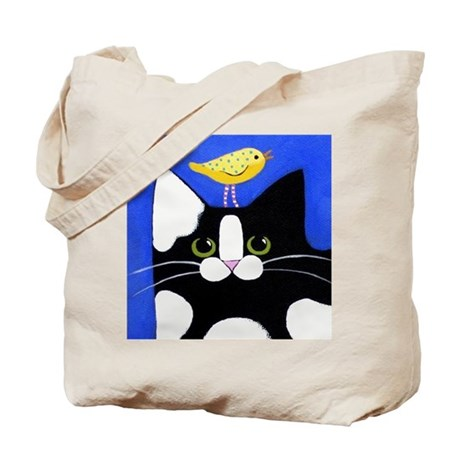 CATS & BIRDS 2-Sided TOTE Bag!