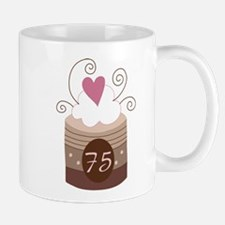 75th Birthday Cupcake Mug