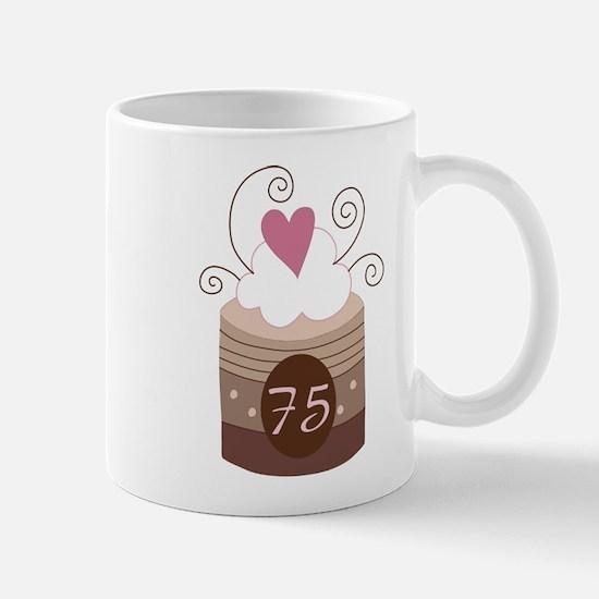 75th Birthday Cupcake Mug