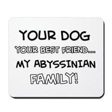 Abyssinian Cat designs Mousepad