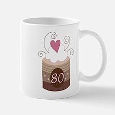 80th Birthday Cupcake Mug