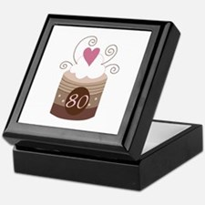 80th Birthday Cupcake Keepsake Box