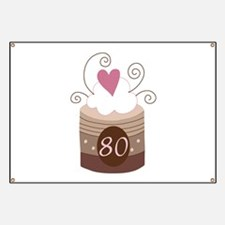 80th Birthday Cupcake Banner