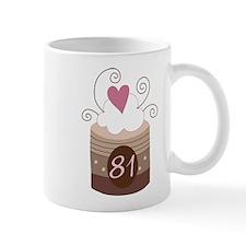 81st Birthday Cupcake Mug