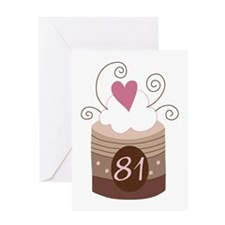 81st Birthday Cupcake Greeting Card
