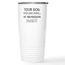 Abyssinian Cat designs Travel Mug