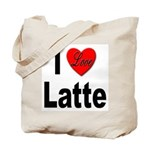 I Love Latte Tote Bag