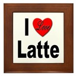 I Love Latte Framed Tile