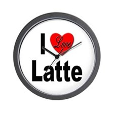 I Love Latte Wall Clock