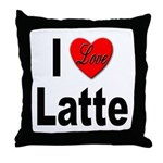 I Love Latte Throw Pillow