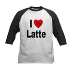 I Love Latte Kids Baseball Jersey