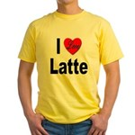 I Love Latte Yellow T-Shirt