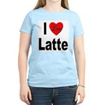 I Love Latte (Front) Women's Pink T-Shirt