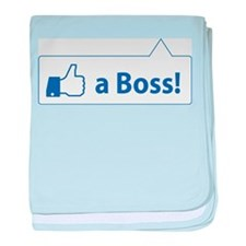 Like a Boss! Funny, Cool In-design baby blanket