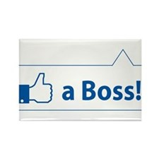 Like a Boss! Funny, Cool In-design Rectangle Magne