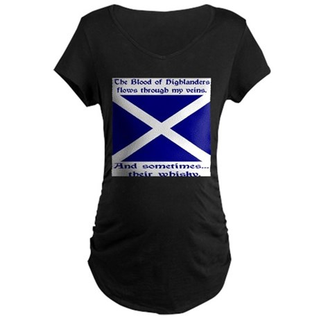 Scottish Blood Whisky St Andrew Maternity Dark T-S