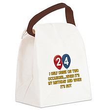 24 year old birthday designs Canvas Lunch Bag