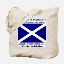 Scottish Blood Whisky St Andrew Tote Bag