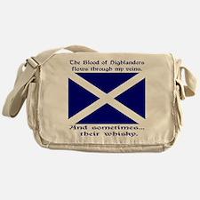 Scottish Blood Whisky St Andrew Messenger Bag
