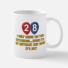 28 year old birthday designs Mug
