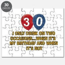 30 year old birthday designs Puzzle