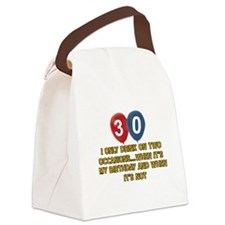 30 year old birthday designs Canvas Lunch Bag