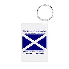 Scottish Blood Whisky St Andrew Keychains