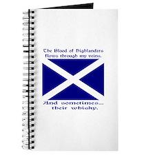Scottish Blood Whisky St Andrew Journal