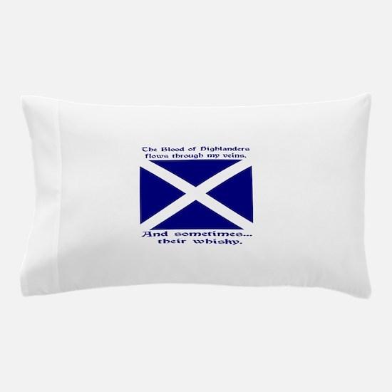 Scottish Blood Whisky St Andrew Pillow Case