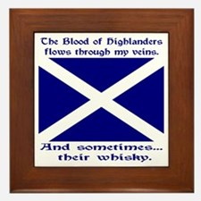 Scottish Blood Whisky St Andrew Framed Tile