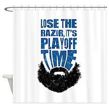 Lose The Razor, Playoff Beard Shower Curtain