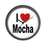 I Love Mocha Wall Clock