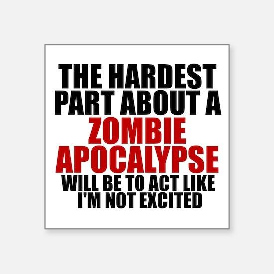 Exciting zombie apocalypse Sticker