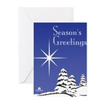 Masonic Star Holiday Greeting Cards (Pk of 10)