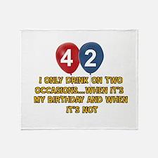 42 year old birthday designs Throw Blanket