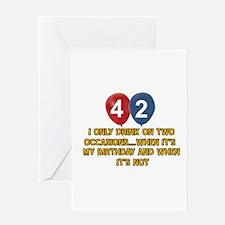 42 year old birthday designs Greeting Card