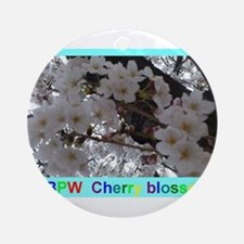 Beautiful cherry blossom in Japan Ornament (Round)