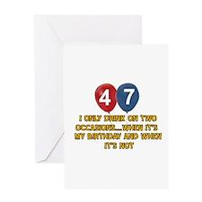 47 year old birthday designs Greeting Card