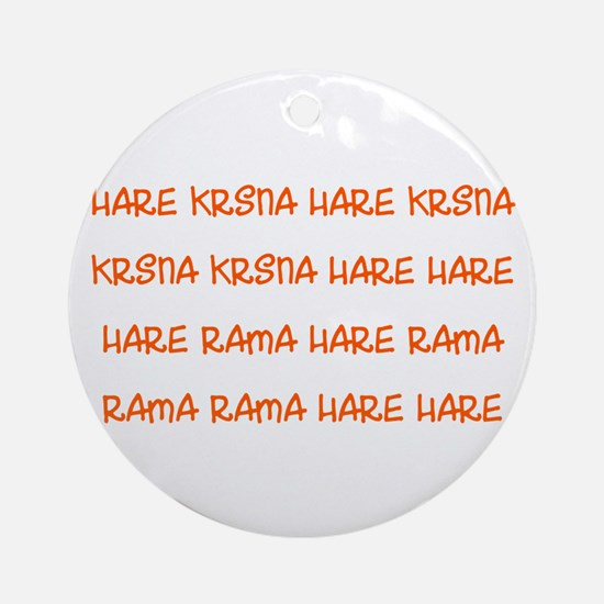 Hare Krsna Maha Mantra Ornament (Round)