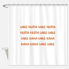 Hare Krsna Maha Mantra Shower Curtain