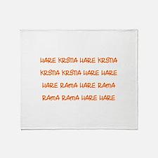 Hare Krsna Maha Mantra Throw Blanket