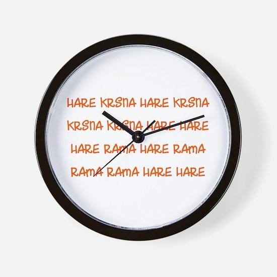Hare Krsna Maha Mantra Wall Clock