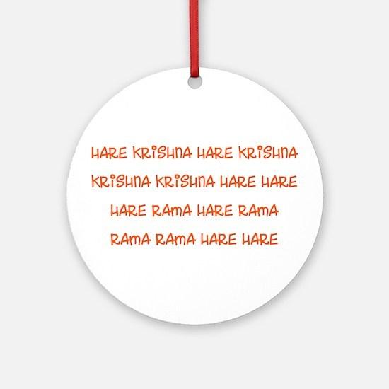 Hare Krishna Maha Mantra Ornament (Round)