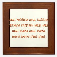 Hare Krishna Maha Mantra Framed Tile