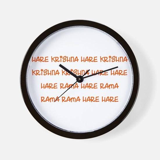 Hare Krishna Maha Mantra Wall Clock