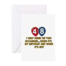 48 year old birthday designs Greeting Cards (Pk of