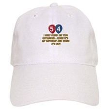 54 year old birthday designs Baseball Baseball Cap