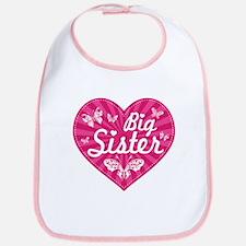 Big Sister Butterfly Heart Bib